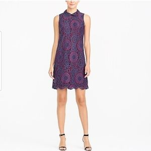 J.Crew J Crew embroidered collared lace dress 0